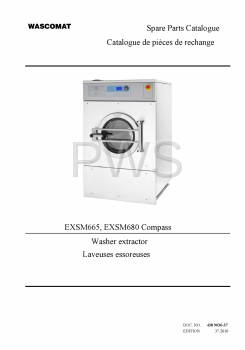 Wascomat Parts - Diagrams, Parts and Manuals for Wascomat EXSM665 Washer