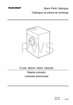Wascomat Parts - Diagrams, Parts and Manuals for Wascomat FL244 Washer