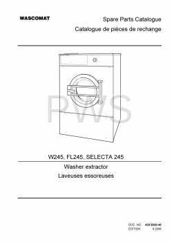 Wascomat Parts - Diagrams, Parts and Manuals for Wascomat FL245 Washer