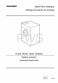 Wascomat Parts - Diagrams, Parts and Manuals for Wascomat S28/244 Washer