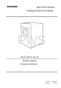 Wascomat Parts - Diagrams, Parts and Manuals for Wascomat SE125 Washer
