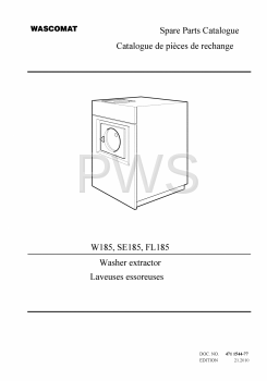 Wascomat Parts - Diagrams, Parts and Manuals for Wascomat SE185 Washer