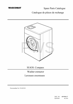 Wascomat Parts - Diagrams, Parts and Manuals for Wascomat SU630 Compass Washer