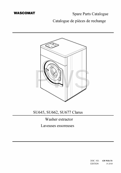 Wascomat Parts - Diagrams, Parts and Manuals for Wascomat SU645 Washer