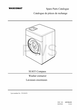 Wascomat Parts - Diagrams, Parts and Manuals for Wascomat SU655 Compass Washer
