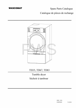 Wascomat Parts - Diagrams, Parts and Manuals for Wascomat TD67 Dryer