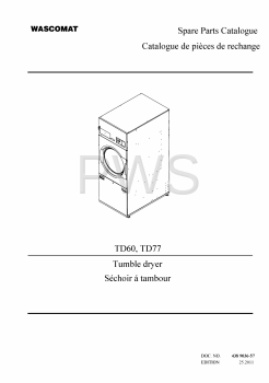 Wascomat Parts - Diagrams, Parts and Manuals for Wascomat TD77 Dryer