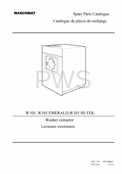 Wascomat Parts - Diagrams, Parts and Manuals for Wascomat W105 HI-TEK Washer