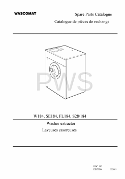 Wascomat Parts - Diagrams, Parts and Manuals for Wascomat W184 Washer