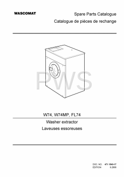 Wascomat Parts - Diagrams, Parts and Manuals for Wascomat W74MP Washer