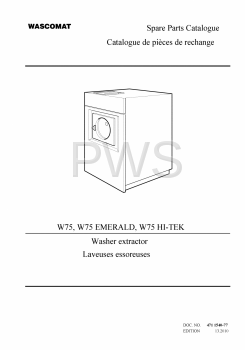 Wascomat Parts - Diagrams, Parts and Manuals for Wascomat W75 EMERALD Washer