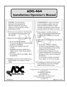 American Dryer Parts - Diagrams, Parts and Manuals for American Dryer ADG-464 Dryer