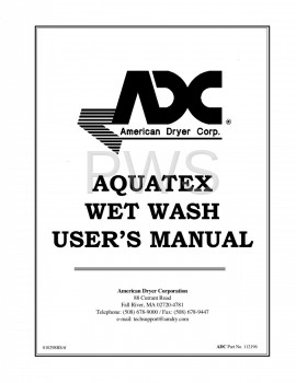American Dryer Parts - Diagrams, Parts and Manuals for American Dryer AQUATEX Dryer