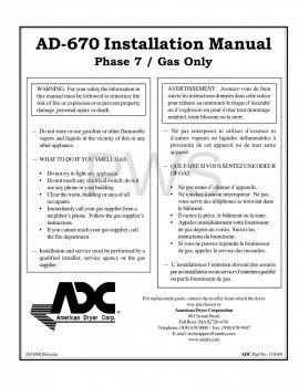 American Dryer Parts - Diagrams, Parts and Manuals for American Dryer AD-670 Dryer