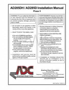 American Dryer Parts - Diagrams, Parts and Manuals for American Dryer AD285DH Dryer