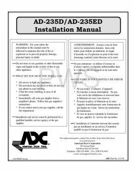 American Dryer Parts - Diagrams, Parts and Manuals for American Dryer AD-230D Dryer