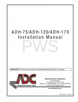 American Dryer Parts - Diagrams, Parts and Manuals for American Dryer ADH-75 Dryer
