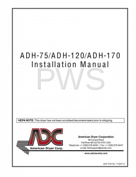 American Dryer Parts - Diagrams, Parts and Manuals for American Dryer ADH-120 Dryer