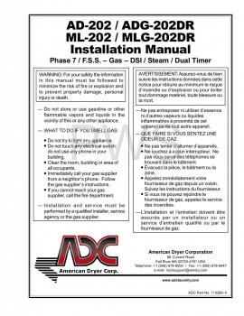 American Dryer Parts - Diagrams, Parts and Manuals for American Dryer AD-202 Dryer