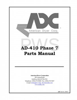 American Dryer Parts - Diagrams, Parts and Manuals for American Dryer AD-410 Dryer