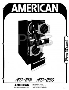 American Dryer Parts - Diagrams, Parts and Manuals for American Dryer AD-215 Dryer