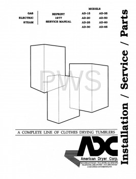 American Dryer Parts - Diagrams, Parts and Manuals for American Dryer AD-35 Dryer