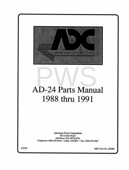 American Dryer Parts - Diagrams, Parts and Manuals for American Dryer AD-24 Dryer