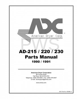 American Dryer Parts - Diagrams, Parts and Manuals for American Dryer AD-220 Dryer