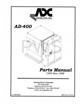 American Dryer Parts - Diagrams, Parts and Manuals for American Dryer AD-400 Dryer