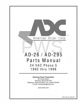 American Dryer Parts - Diagrams, Parts and Manuals for American Dryer AD-295 Dryer
