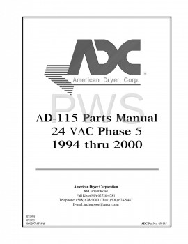 American Dryer Parts - Diagrams, Parts and Manuals for American Dryer AD-115 Dryer