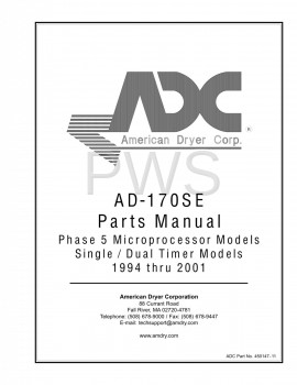 American Dryer Parts - Diagrams, Parts and Manuals for American Dryer AD-170SE Dryer