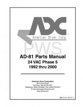 American Dryer Parts - Diagrams, Parts and Manuals for American Dryer AD-81 Dryer
