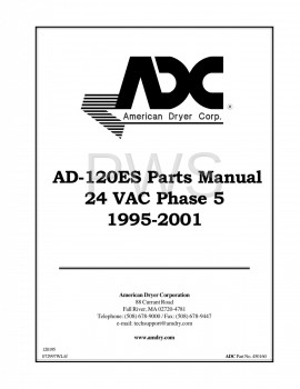 American Dryer Parts - Diagrams, Parts and Manuals for American Dryer AD-120ES Dryer