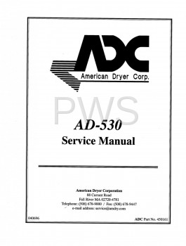 American Dryer Parts - Diagrams, Parts and Manuals for American Dryer AD-530 Dryer