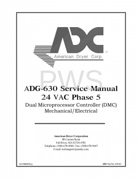 American Dryer Parts - Diagrams, Parts and Manuals for American Dryer ADG-630 Dryer
