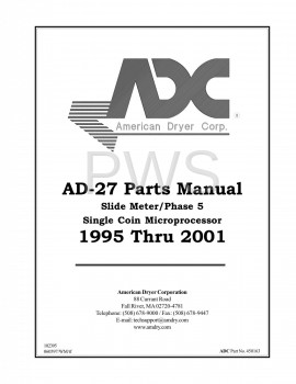 American Dryer Parts - Diagrams, Parts and Manuals for American Dryer AD-27 Dryer