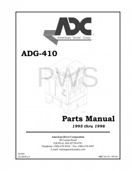 American Dryer Parts - Diagrams, Parts and Manuals for American Dryer ADG-410 Dryer