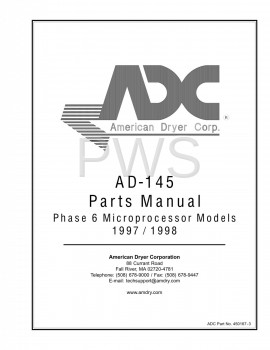 American Dryer Parts - Diagrams, Parts and Manuals for American Dryer AD-145 Dryer