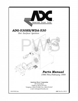 American Dryer Parts - Diagrams, Parts and Manuals for American Dryer ADG-530HS Dryer