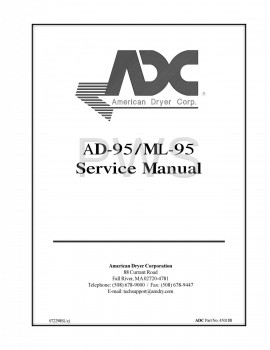 American Dryer Parts - Diagrams, Parts and Manuals for American Dryer AD-95 Dryer