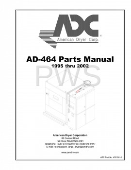 American Dryer Parts - Diagrams, Parts and Manuals for American Dryer AD-464 Dryer