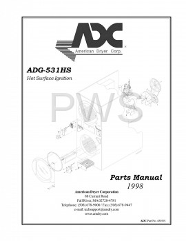 American Dryer Parts - Diagrams, Parts and Manuals for American Dryer ADG-531HS Dryer