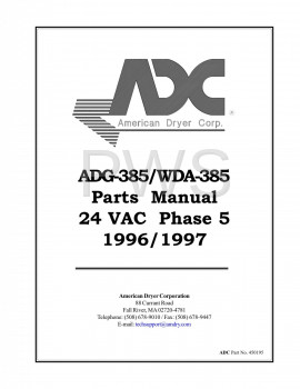 American Dryer Parts - Diagrams, Parts and Manuals for American Dryer WDA-385 Dryer