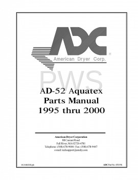 American Dryer Parts - Diagrams, Parts and Manuals for American Dryer AD-52 Dryer