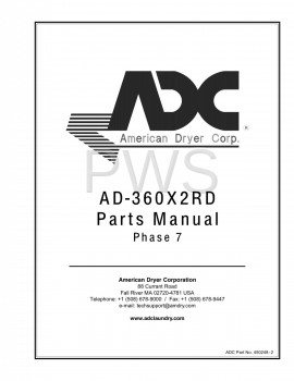 American Dryer Parts - Diagrams, Parts and Manuals for American Dryer AD-360X2RD Dryer