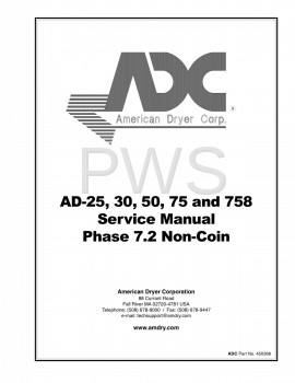 American Dryer Parts - Diagrams, Parts and Manuals for American Dryer AD-758 Dryer