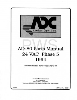 American Dryer Parts - Diagrams, Parts and Manuals for American Dryer AD-80 Dryer