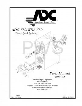 American Dryer Parts - Diagrams, Parts and Manuals for American Dryer WDA-530 Dryer