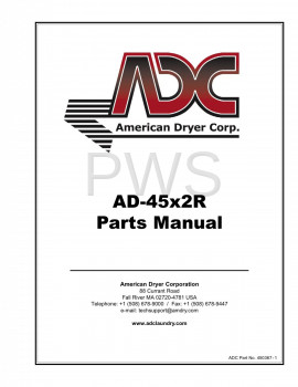 American Dryer Parts - Diagrams, Parts and Manuals for American Dryer AD-45x2 Dryer